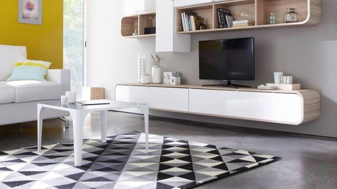 impressionnant tapis noir blanc gris | Décoration française ...