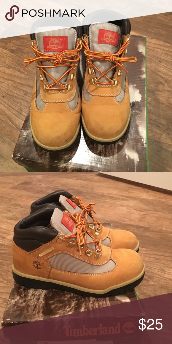 85340123b75d Worn Wheat Timberland Field Boot Worn Wheat Timberland Field Boot. Signs of  wear. Size 5 in Boys   7 in Women Shoes Ankle Boots   Booties
