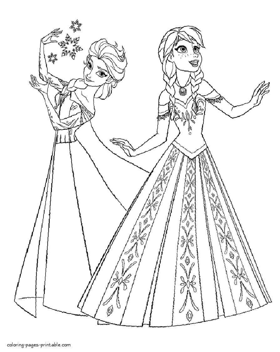 Anna Coloring Pages Coloring Pages Elsa Annaring Pages And Free Sheetselsa Sheets Anna Entitlementtrap Com Disney Ideen Conni