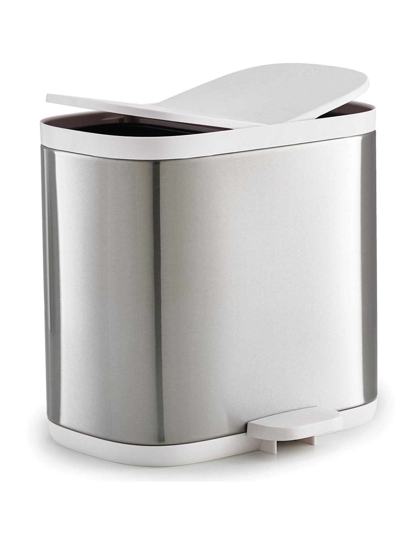 Joseph Joseph Split Steel Recycler Waste Bin In One Colour Bathroom Bin Recycler Bathroom Essentials