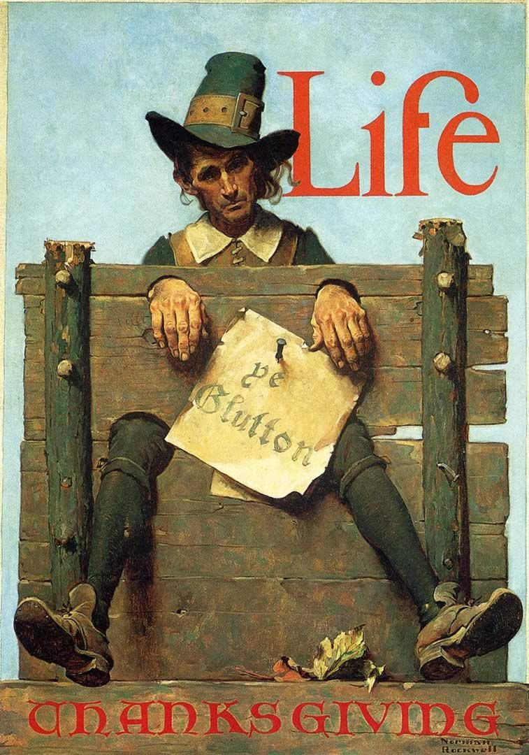 Norman Rockwell Best Paintings Ever   Norman Rockwell Life Thanksgiving Ye Glutton