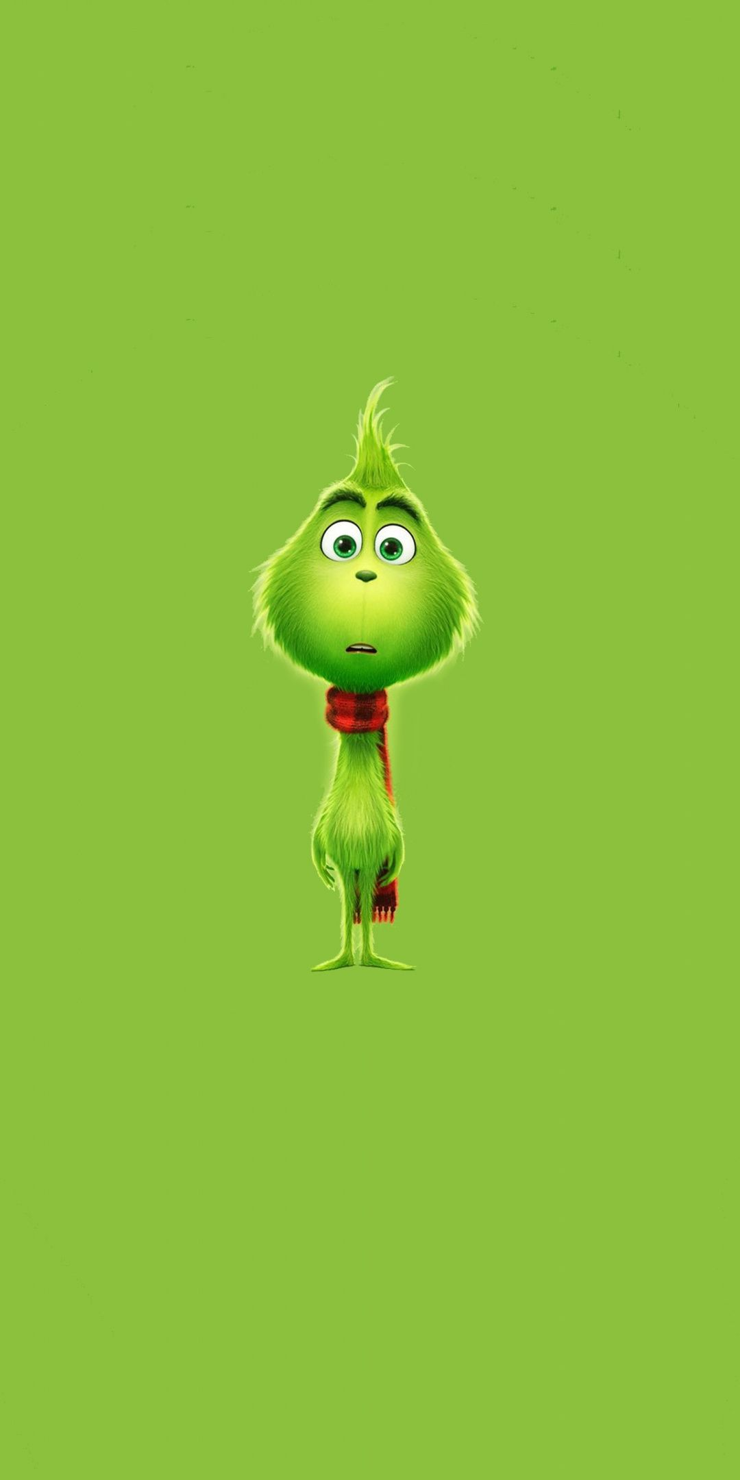 The Grinch, 2018, minimal, 1080x2160 wallpaper (With
