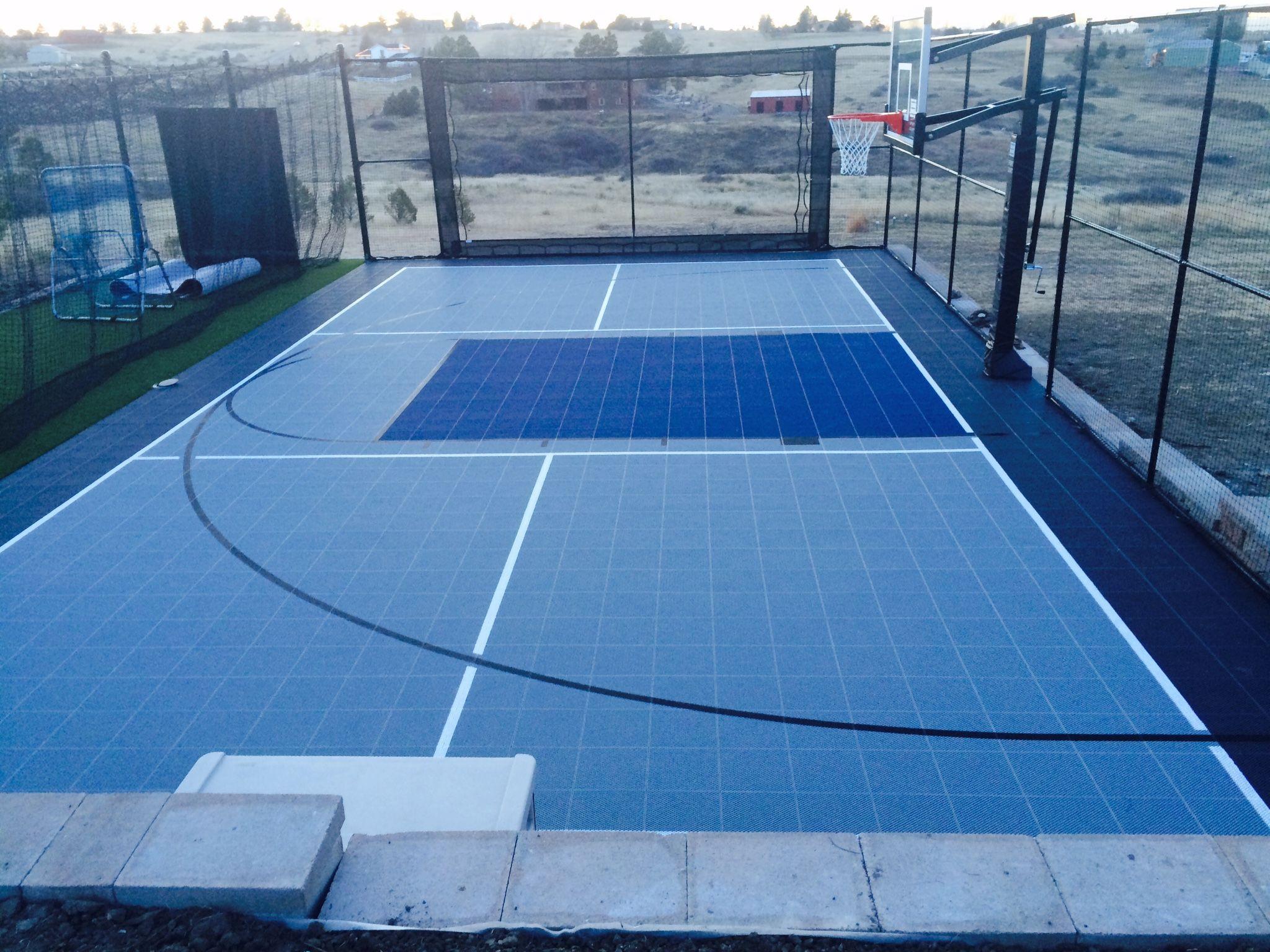 Backyard Backyardcourt Basketball Colorado Sportcourt Cancha De Baloncesto Canchas Baloncesto