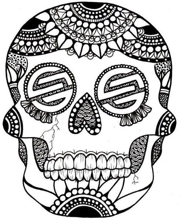 Calaveras, Chicanos and skateboard... What is missing? Oh, Una Chela ...