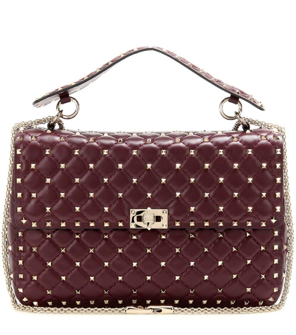 41f8ffa691 mytheresa.com - Rockstud Spike quilted leather handbag - Luxury Fashion for  Women / Designer clothing, shoes, bags