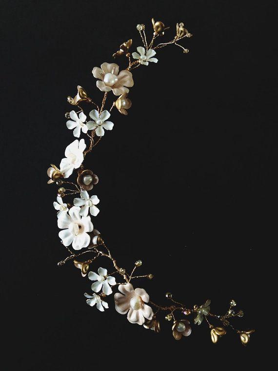 Augustina flower vine style 1103 by mignonnehandmade on Etsy