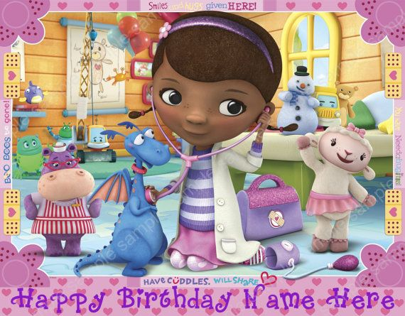 Doc Mcstuffins Edible Cake Topper Image By Edibleprintdelights 7 99 Doc Mcstuffins Birthday Party Doc Mcstuffins Doc Mcstuffins Birthday