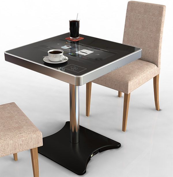 touchscreen restaurant table forecasts the end of human