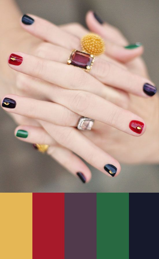 Color Study, jewel tones manicure, 57
