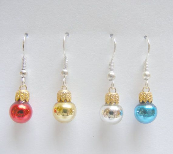 Food Jewelry Christmas Bauble Earrings By NeatEats