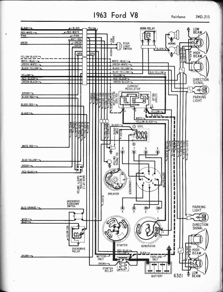 57 65 Ford Wiring Diagrams 1963 V8 Fairlane 1955