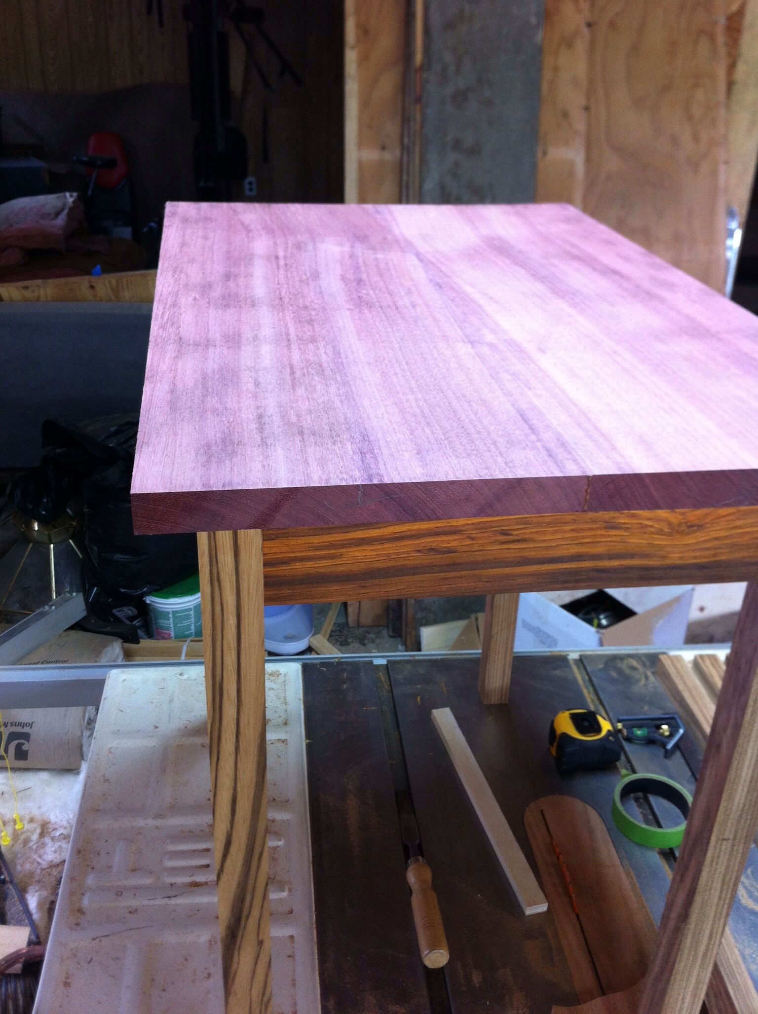 purple heart wood furniture. Purpleheart, Cocobolo And Zebrawood Table. No Stain. All Natural Wood Color Purple Heart Furniture