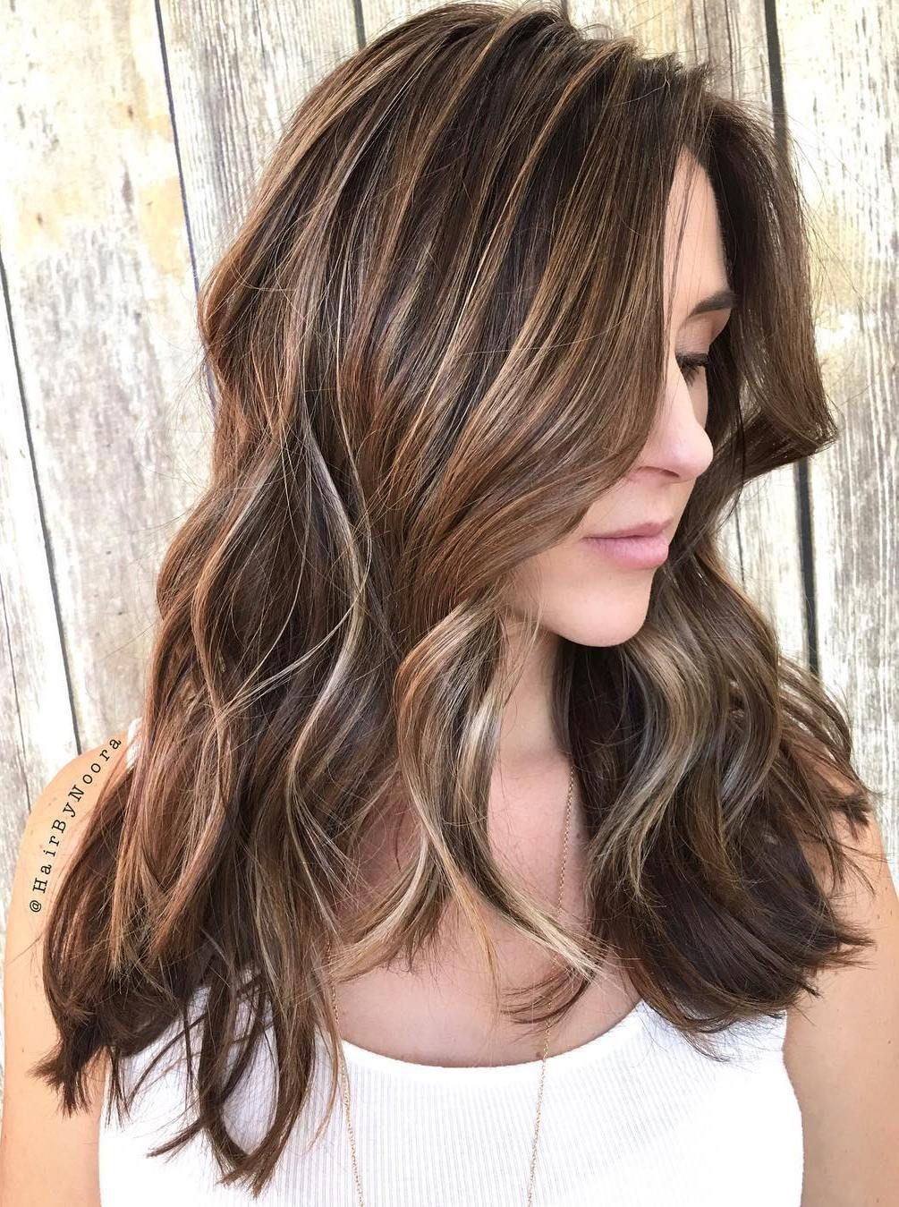 45 Ideas For Light Brown Hair With Highlights And Lowlights Long