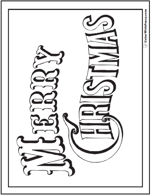 merry christmas coloring pages banner poster or christmas card check