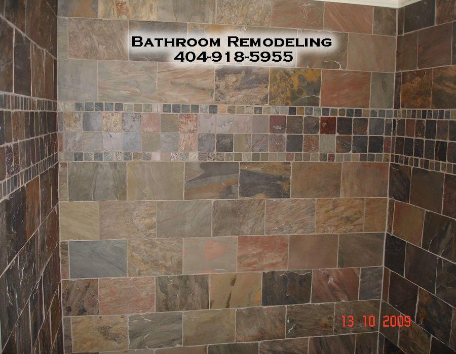 Slate Bathroom Ideas | Sandy Springs Ga Bathroom Remodelers, Bathroom  Remodeling In Sandy .