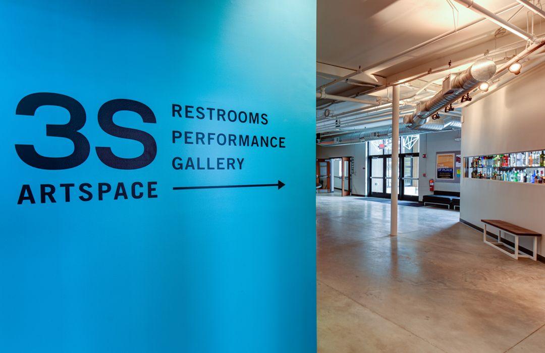 Interior Wayfinding #3sartspace #portsmouth #artsandculture #wayfinding #coolsigns #bentaluminum #brandenvironment #architectureanddesign #design #donorrecognition #gratitude #environmentalgraphics #commercialarchitecture #gallery #museum