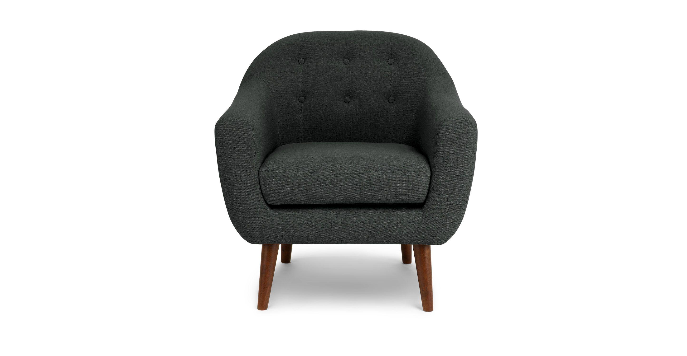 Gray Mid Century Modern Armchair Oasis