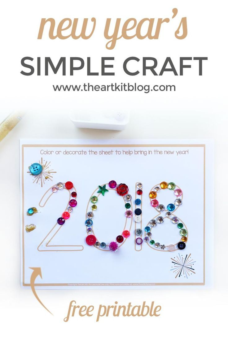 Simple New Year's Craft for Kids {Free Printable ...