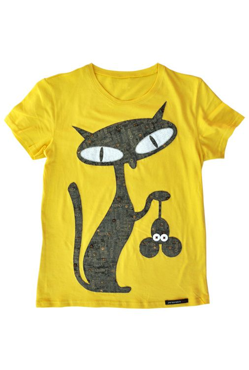 Natural Mouse Killer - yellow Camiseta de patchwork Patchwork t ...