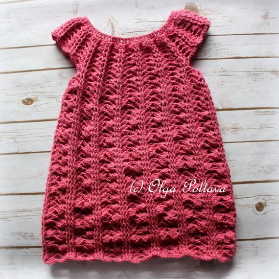 Crochet Girls Dress Pattern Size 5 6 Years Old Easy Crochet Pattern Crochet Girls Dress Pattern Crochet Baby Clothes Crochet For Kids