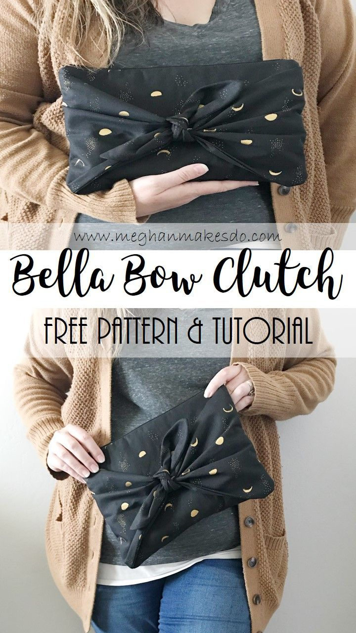 The Bella Bow Clutch-Free Pattern & Tutorial — Meghan Makes Do