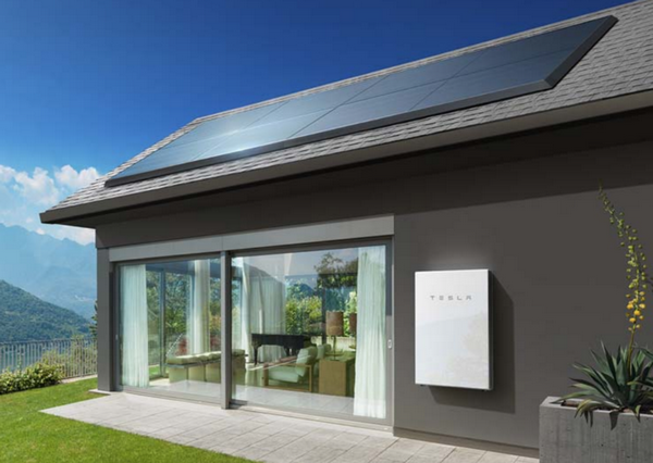 Modern Home Energy Storage Tesla Powerwall Mounted On Wall Tesla Powerwall Energy Storage Solar Panels Tesla Powerwall Solar Design