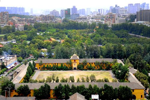 A birds-eye view of the former site of #Yunnan Military School in the #GreenLake area, #Kunming http://goo.gl/Y1zkdR