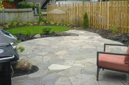 Natural Flagstone Patio   Beautiful! This Is What I Want In Terms Of  Unified Spacing Between Stones | Flagstone Patios | Pinterest | Flagstone  Patio, ...