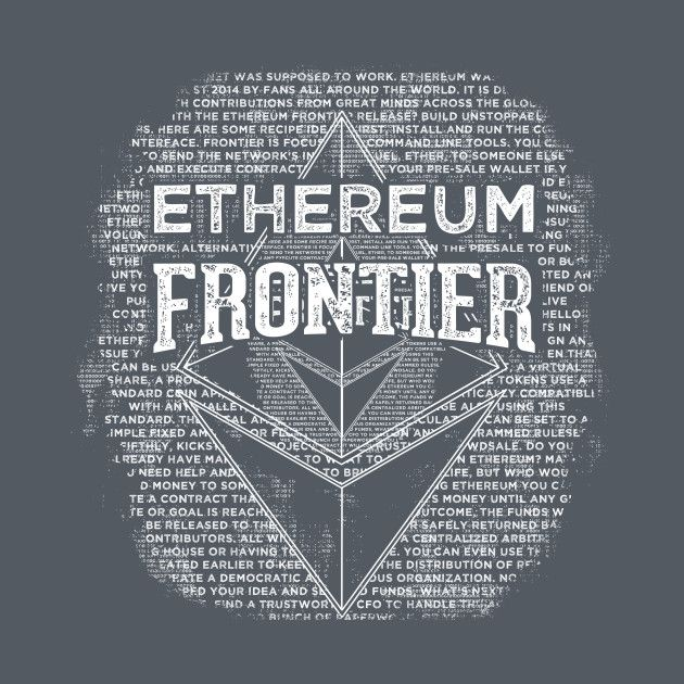 Awesome 'Ethereum+Frontier+grunge' design on TeePublic