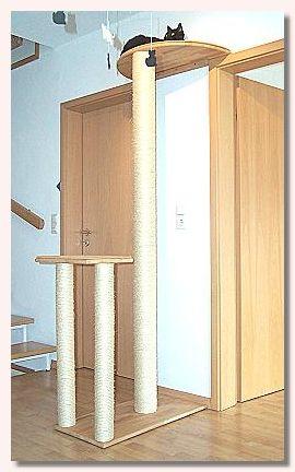 wir bauen einen kratzbaum f r die katze katzen. Black Bedroom Furniture Sets. Home Design Ideas