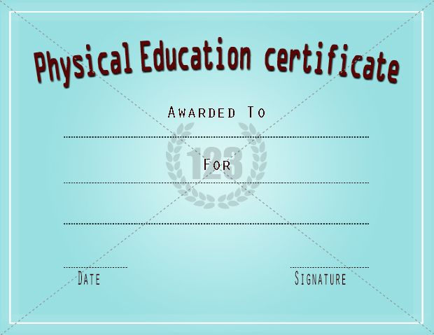 Physical education certificate certificate templates physical education certificate certificate templates yadclub Gallery