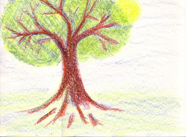 A Summers Day 10 Minute Drawing With Stockmar Wax Colors Using