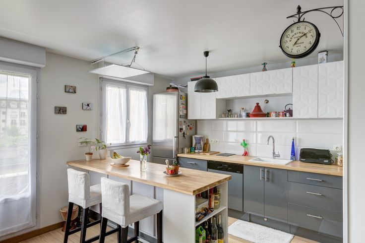 cool Idée relooking cuisine - Une cuisine moderne avec des portes de