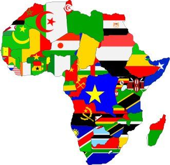Map Of Africa With Flags.Africa Flag Map International Flair Pinterest List Of African