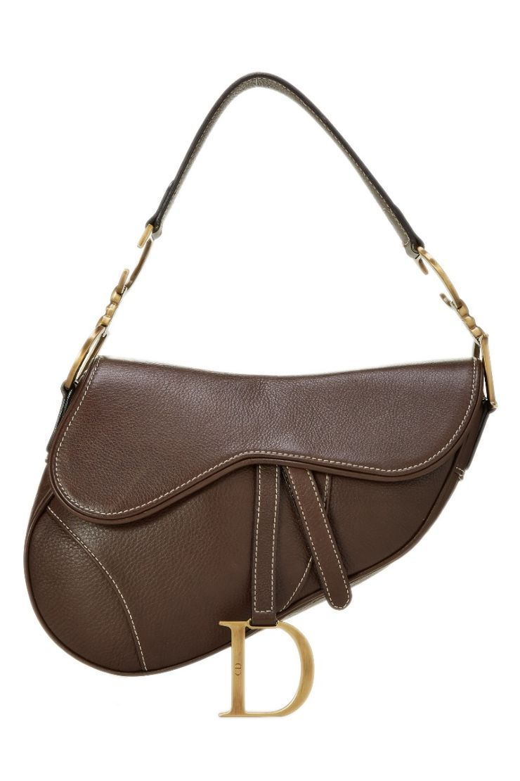 37fdb3ac8d7c Christian Dior Brown Leather Saddle Bag - What Goes Around Comes Around