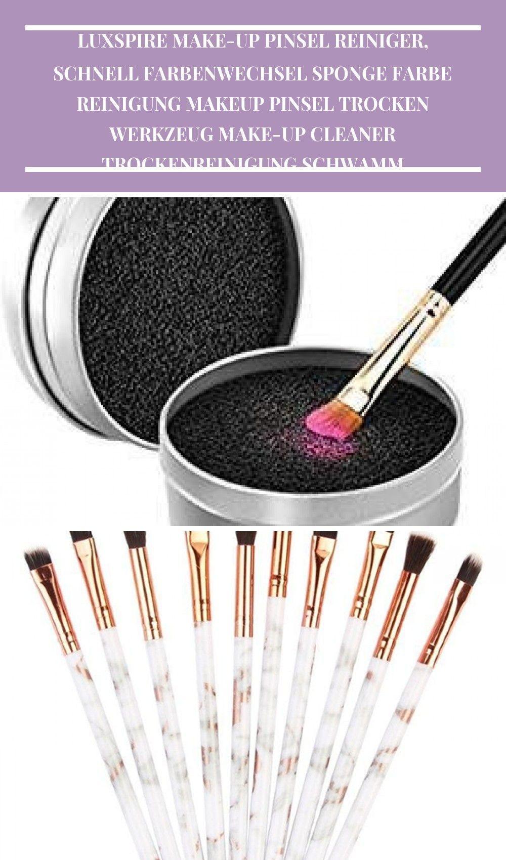 Luxspire makeup brush cleaner, quick color change, sponge