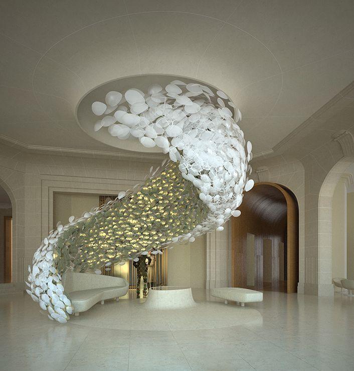 Pin de interior design ideas em hotels designs we like for Paredes artisticas