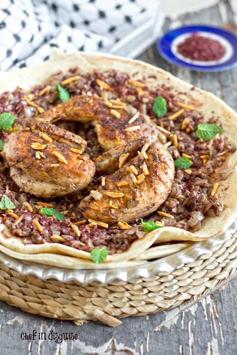 Musakhan palestinian sumac chicken with sauteed onions pinterest palestinian musakhan beautiful taboon bread topped with perfectly caramelized onionsseasoned with summac and cardamomg forumfinder Choice Image