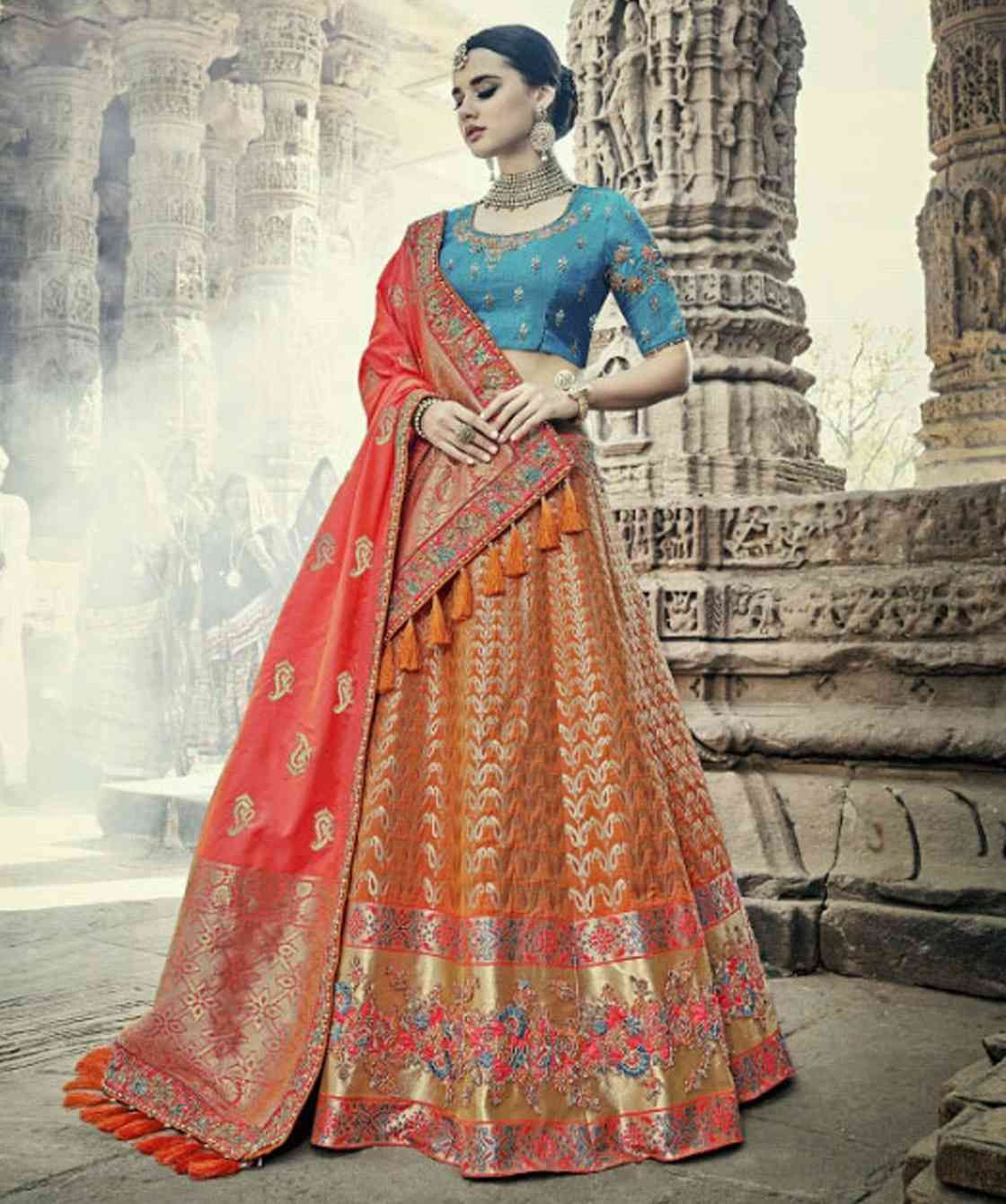 f53364881fbe Buy Tathastu 1701 to 1713 series Heavy bridal Silk lehenga wholesale online