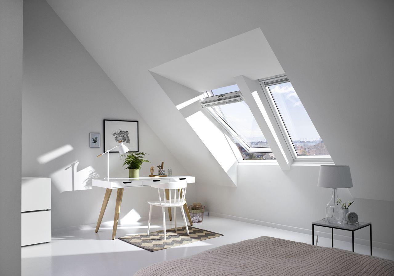 sch ner wohnen und arbeiten mit dem velux lichtl sung raum velux b ro ideen pinterest. Black Bedroom Furniture Sets. Home Design Ideas