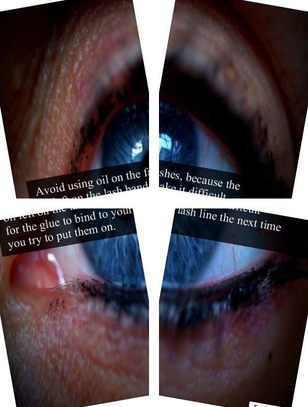 Eyelash Inserts Natural Mink Lashes Permanent Fake