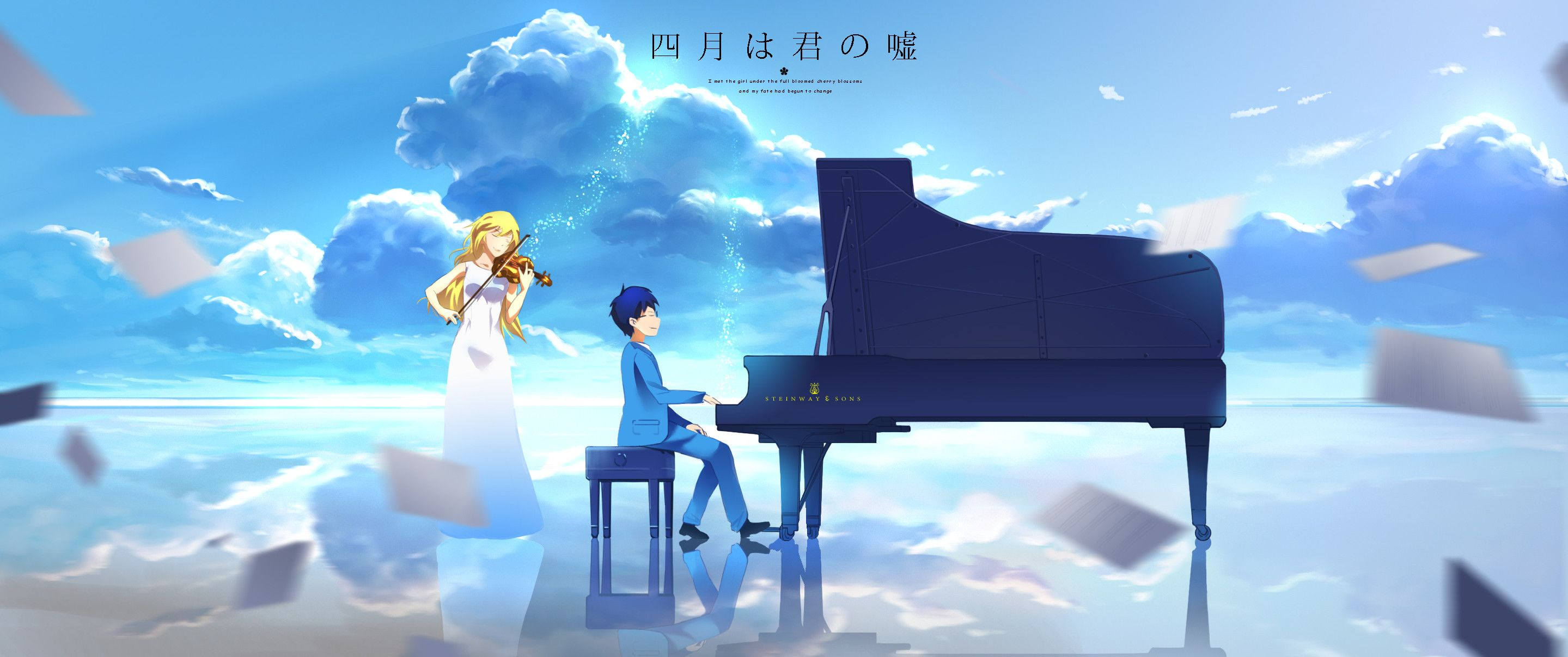 Your Lie In April Wallpapers 81 Pictures In 2020 Your Lie In April You Lied Wallpaper Wa