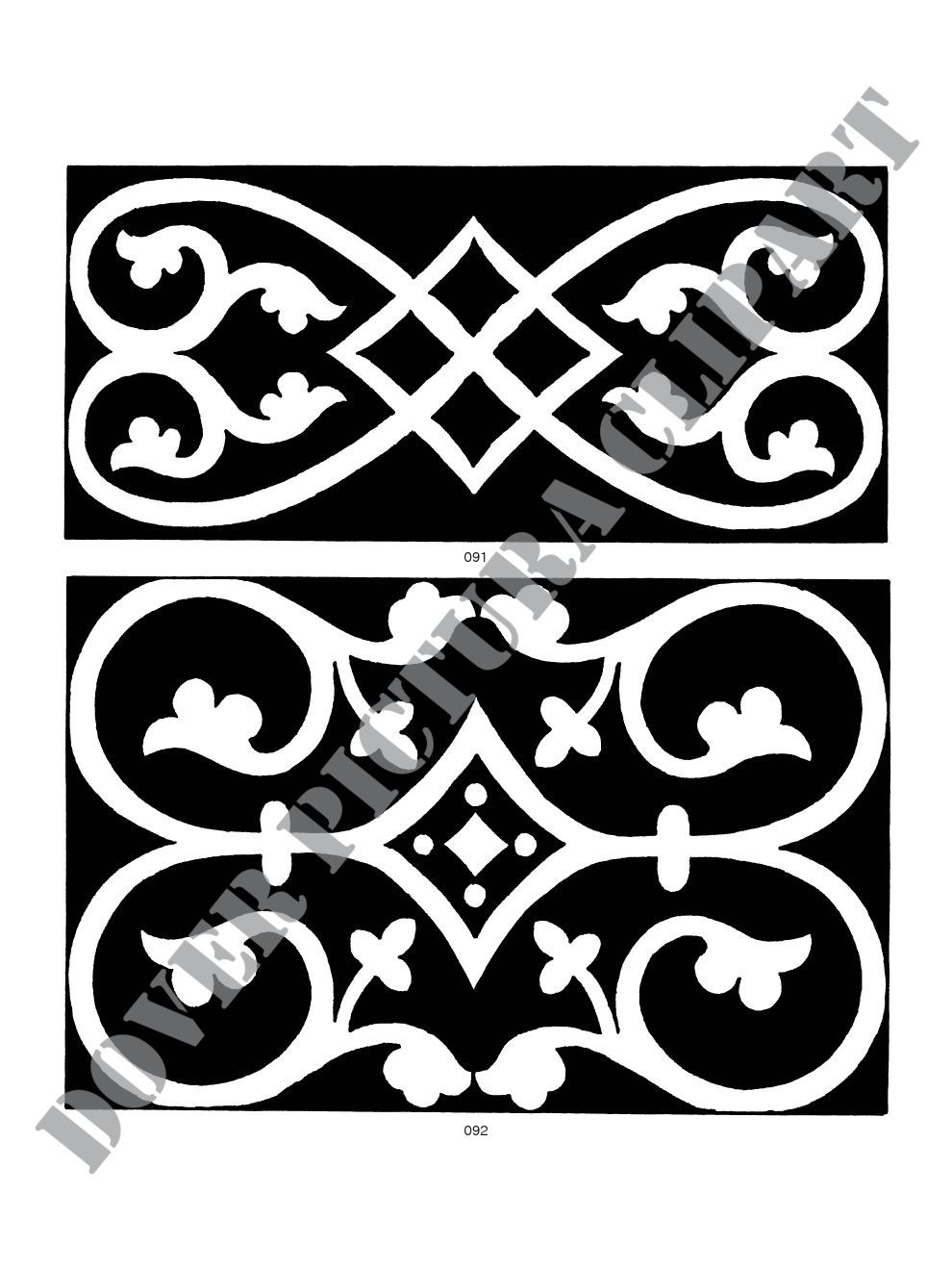 Cenefas Decorativas Para Pintar Medieval Tile Designs Theses Would Be Awesome As Silhouette