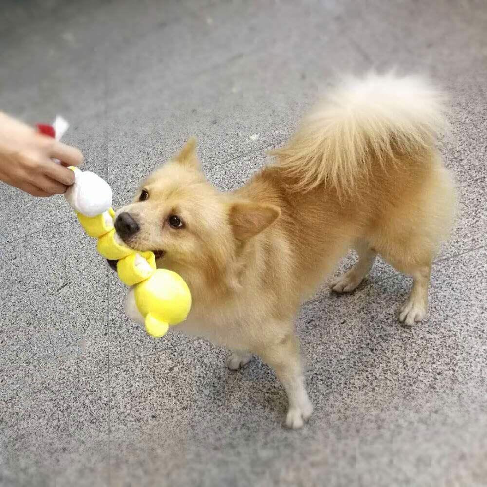 Pamula 2pcs Stretchable Squeaky Plusha Dog Toys Interactive