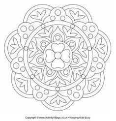 Rangoli Designs Patterns For Children To Colour Could Be Made Into