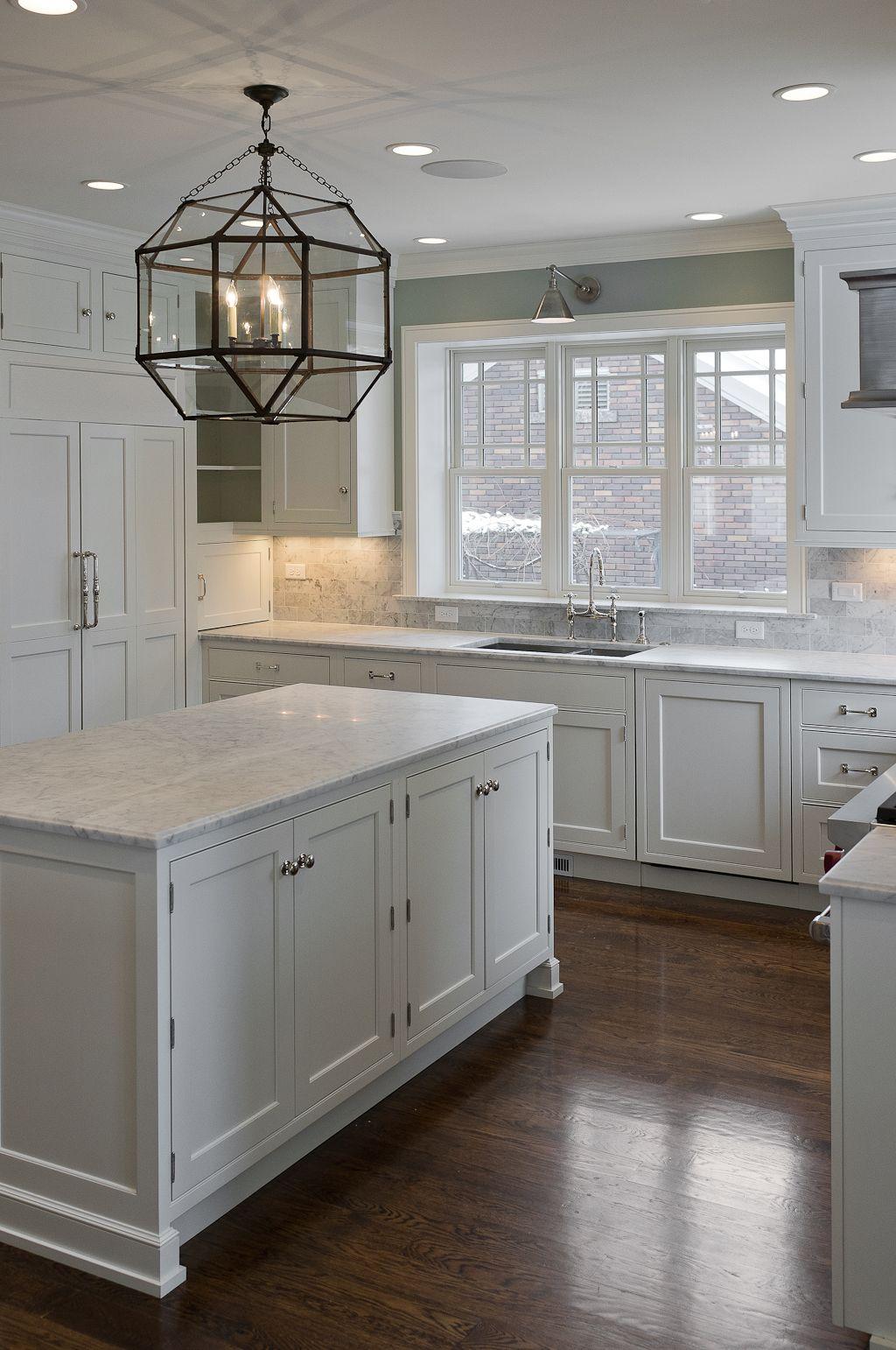 White Kitchen Cabinets Wood Floor