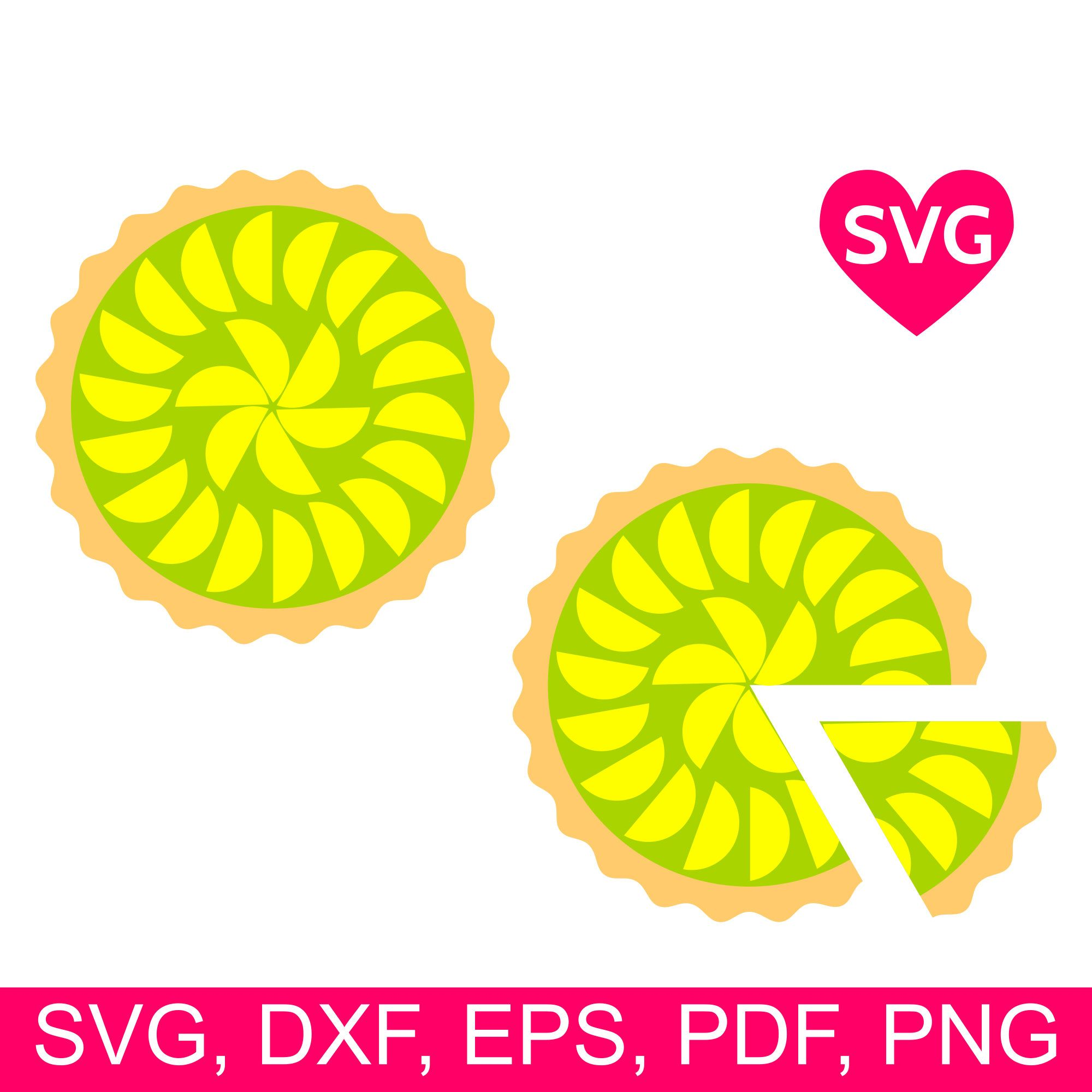 Key Lime Pie SVG file for Cricut & Silhouette, Lemon Pie