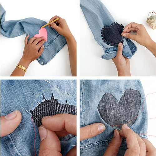 DIY heart patches