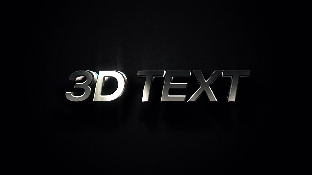3d text animation after effects tutorial