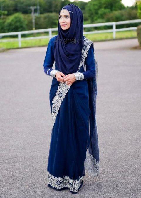 Baju Sari India Muslim Muslimah Fashion Hijab Style Niqab